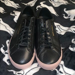 Saint Laurent Women's Andy Leather Sneakers
